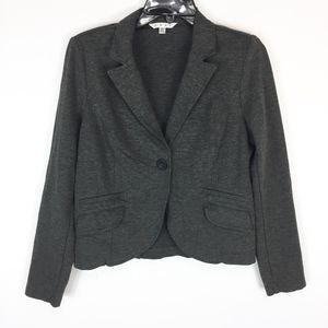 Cabi Blazer Suit 10 Career Pockets Ponte Knit Gray